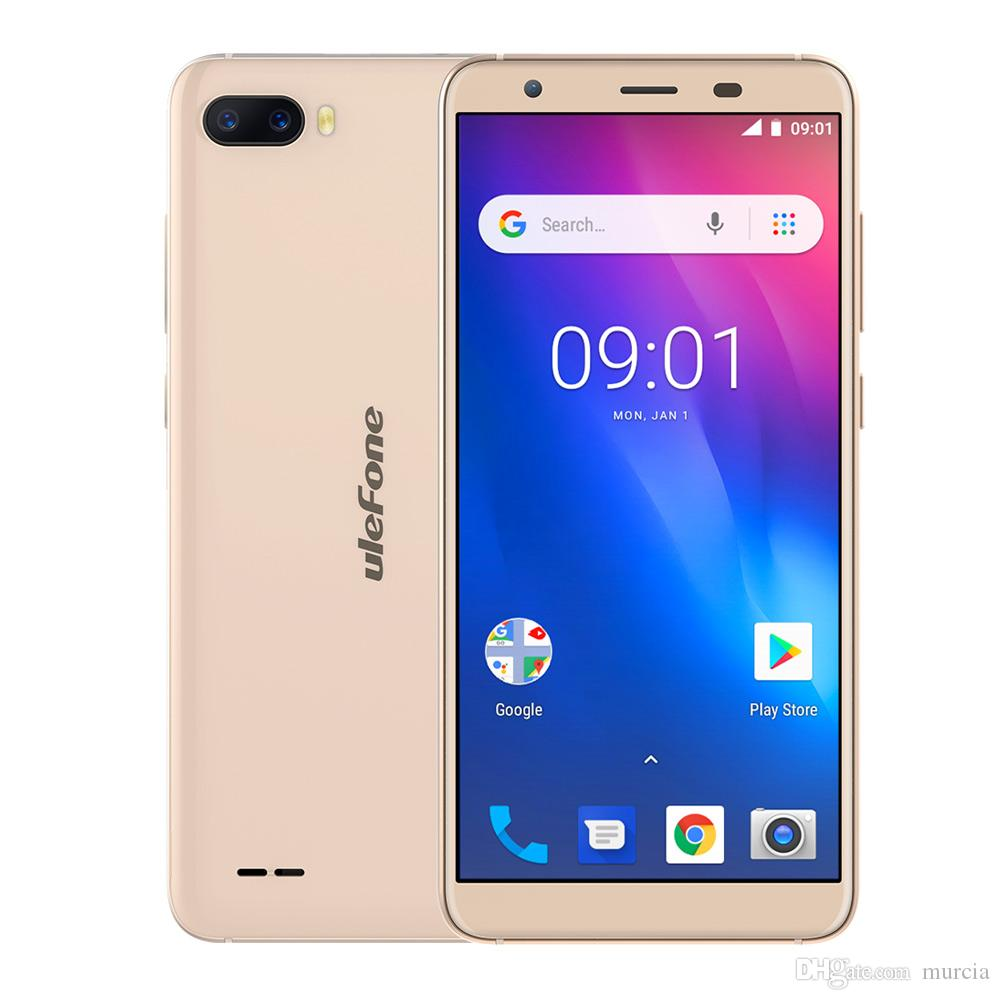Ulefone S1 Face ID Android 8.1 Smartphone 5.5'' 18:9 Screen 1GB RAM 8GB ROM 8MP+5MP Dual Rear Camera Mobile Phone MT6580 Quad Core 3G 3000mA