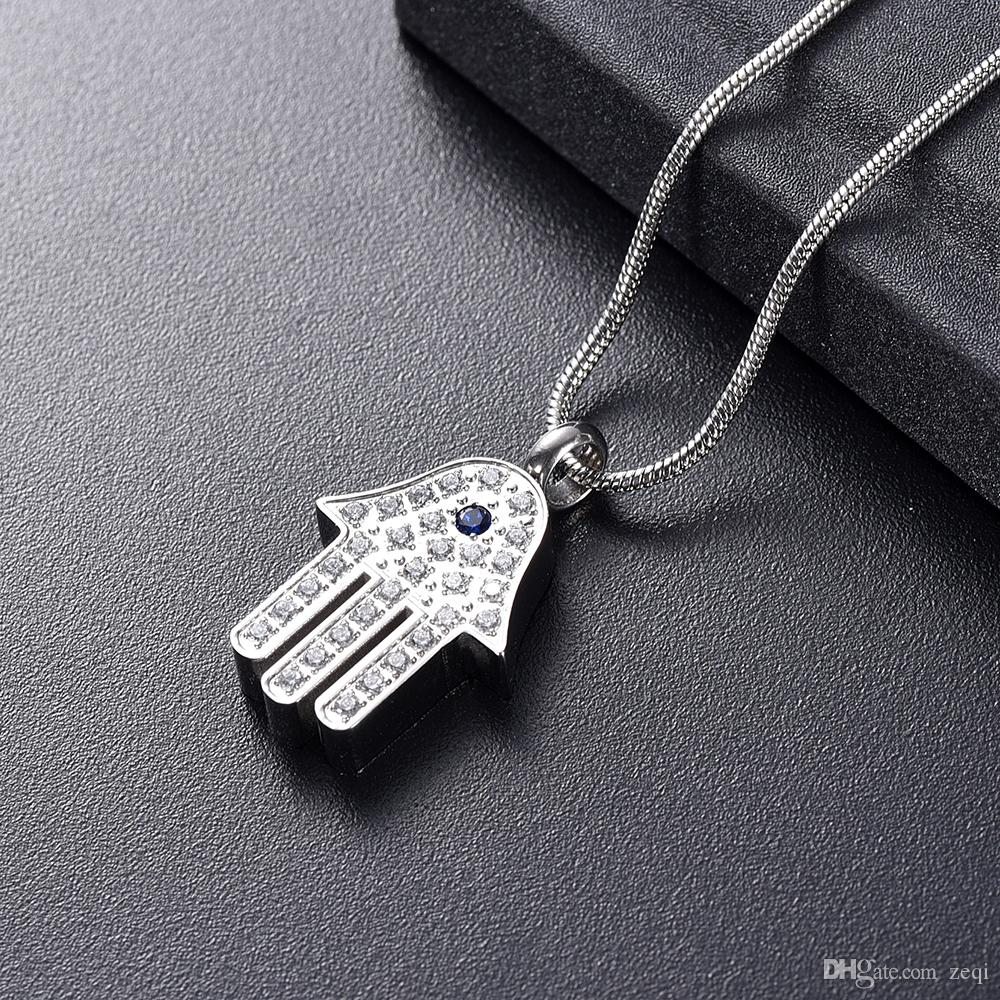 IJD10069 Collier de crémation en forme de cactus avec vis pour tenir le cercueil de bijoux de souvenir de cendres pour cercueil funéraire pour humain / animal