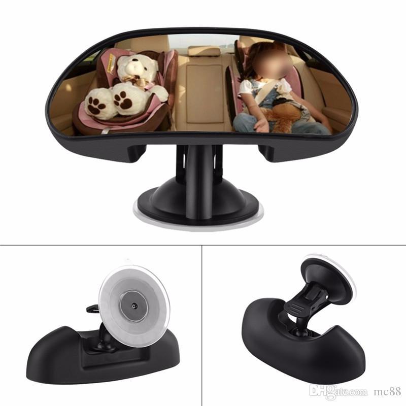 360 درجة قابل للتعديل سيارة الطفل الطفل المقعد الخلفي مرآة الرؤية الخلفية السلامة مع الالتصاق سيارة المقعد الخلفي الأسود كيد تواجه المرآة الخلفية