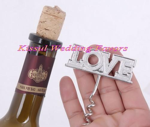 (20 Pieces/lot) Love Wine Corkscrew Wedding gift for bridal shower favors and party decoration gift Bottle opener favor