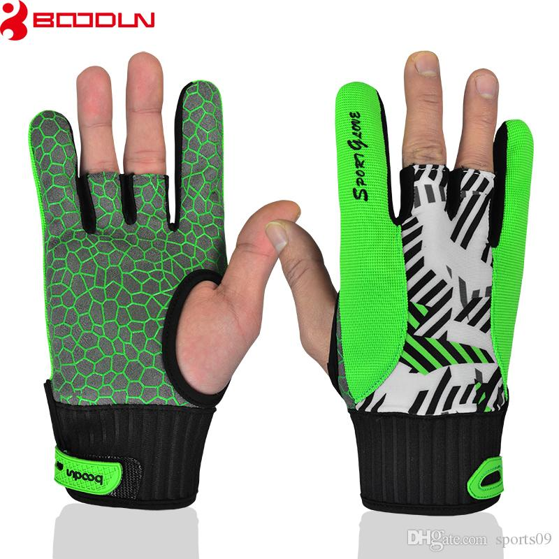 Brand Bowling Gloves Printing High-End Finger Thumb Silicone Non-slip Bowling Gloves for Men and Women Luvas de goleiro