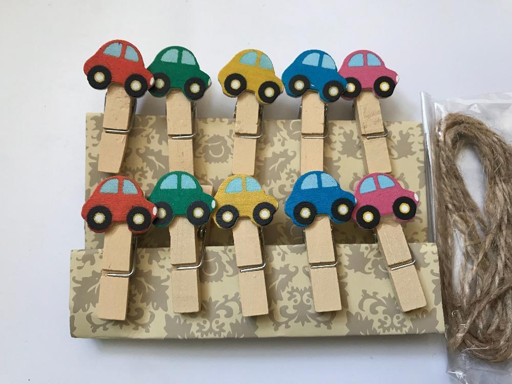 Araba 120 adet Klipler, Kağıt Ahşap Klipler, Fotoğraf Ahşap Kazıklar, Not Mesajları Klipler, Pin Clothespin Doğum Günü Partisi Hediye Favor Dekorasyon için