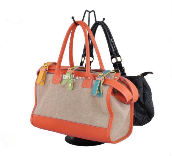 5pcs Hot sale Black handbag display stand women bags display rack W-shape wig purse shoes cap display holder fashion Boutique props