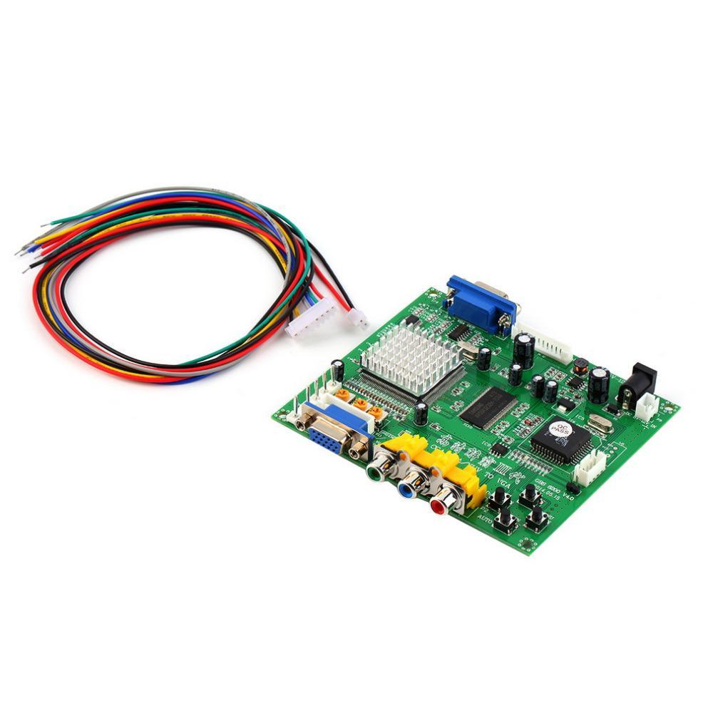 Freeshipping 117*100*20 mm 5VDC +/- 0.5v (2A) Arcade Game RGB/CGA/EGA/YUV to VGA HD Video Converter Board HD9800/GBS8200