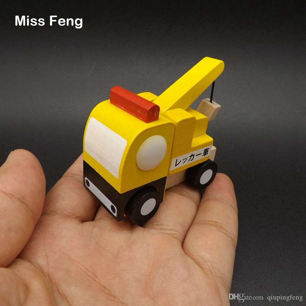 Cool Tiny Cars Camión de madera del remolque Mini vehículo Juguetes para niños Regalos para niños educativos juguetes de enseñanza de regalo