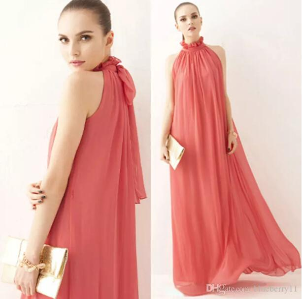 Maxi Long Beach Party Chiffon Dress