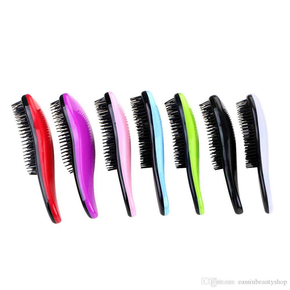 Magic Hair Styling Salon Detangling Comb Children use Hair Brush Comb Tangle Hair Care with 7 colors