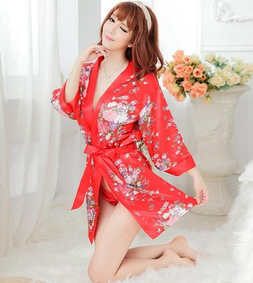 1pc biancheria intima di alta qualità sexy lingerie con perizoma reggiseno cintura da notte 4 set esotico cheongsam pigiameria stile kimono per le donne