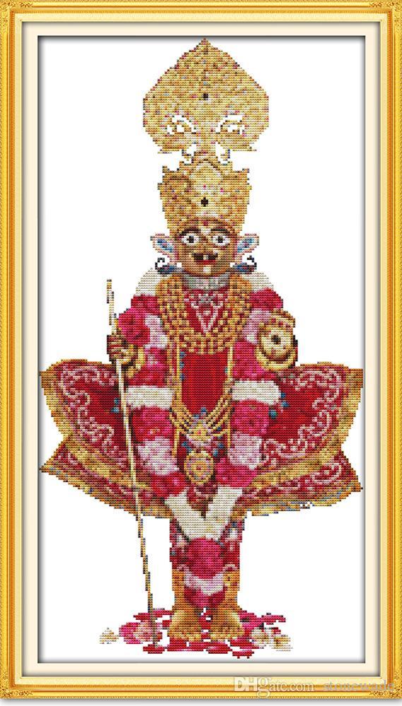Indianin Bóg Religia Decor obrazy, Handmade Cross Stitch Hafty Robótki Zestawy Liczba druku na płótnie DMC 14CT / 11CT
