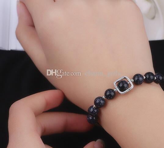 Hot style étoile bleu perles de transfert de sable star moon bracelet femme étudiant mains décorées mode classique élégance