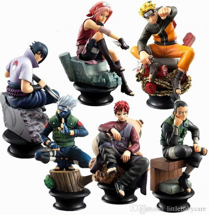 5 Pcs/Set 9cm Cartoon Naruto Sasuke Kakashi PVC Anime Action Figure Toys Kids Adult For Collection Model Gift