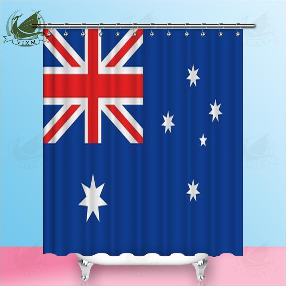 Vixm Bandeira Da Austrália No Vento Com Cortinas De Tecido De Poliéster Cortinas De Tecido De Textura Para A Decoração Home