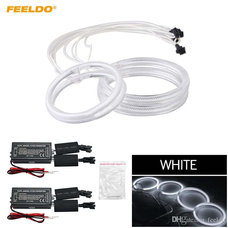 FEELDO 4X auto CCFL Angel Eyes Luce Halo Anelli Kit Per Hyundai Coupe / Tiburon Faro DRL # 3586