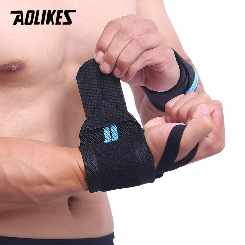 Gym Training Weight Lifting Straps Wraps Hand Bar Wrist Support Safe Protect/_A