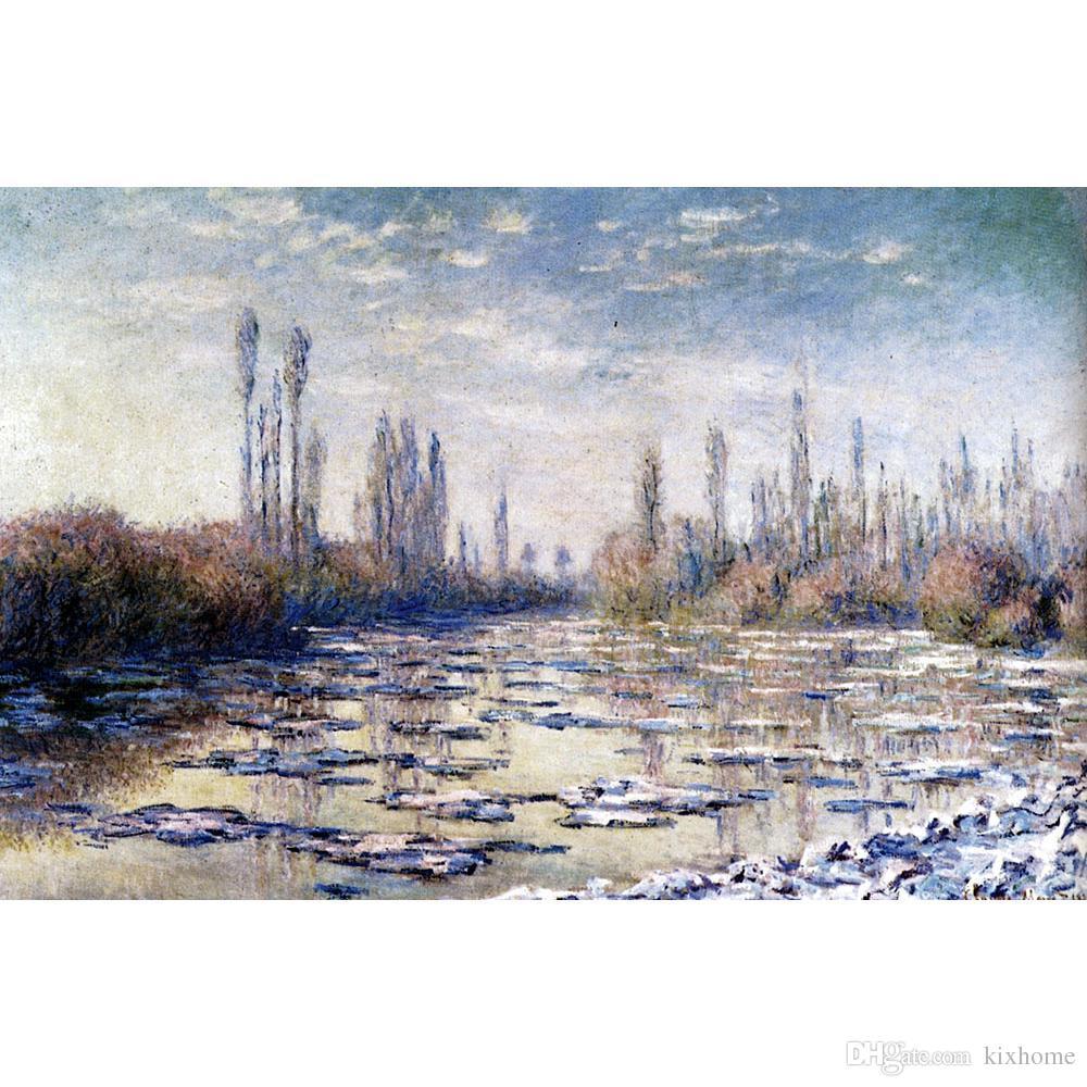 Tuval sanat yağlıboya Kadar Yakın Vetheuil Claude Monet tarafından izlenimci sanat eseri için yatak odası dekor