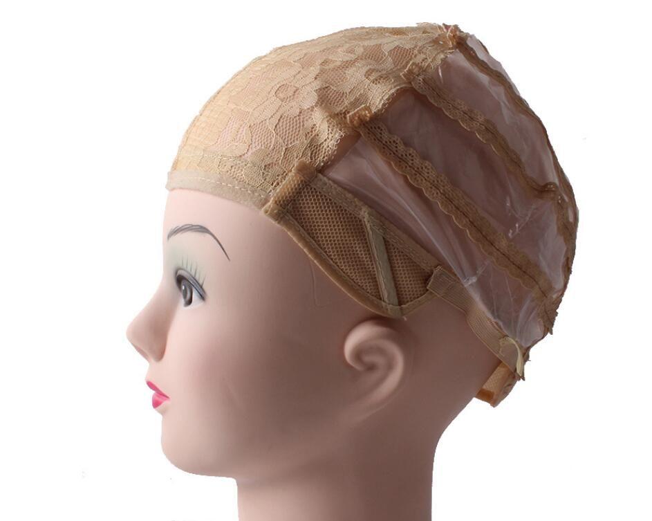 가발 제조용 가발 끈 조절 가능 스트랩 백 스위스 레이스 전체 프론트 레이스 가발 모자 가발 직조 머리 확장 3 색