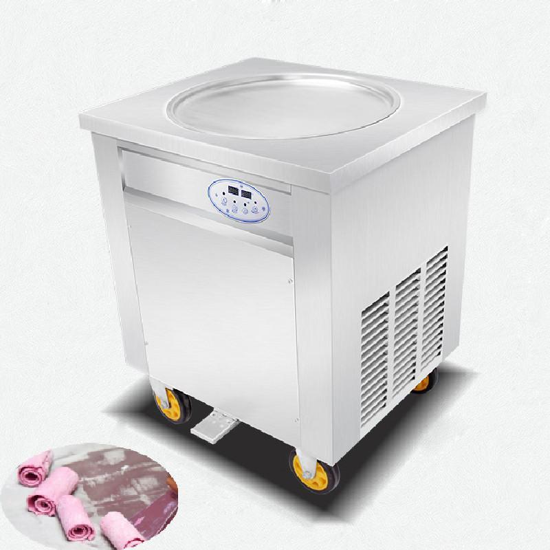 BEIJAMEI unique rond pan frit machine à crème glacée 110v 220v friture machine à crème glacée fabricant