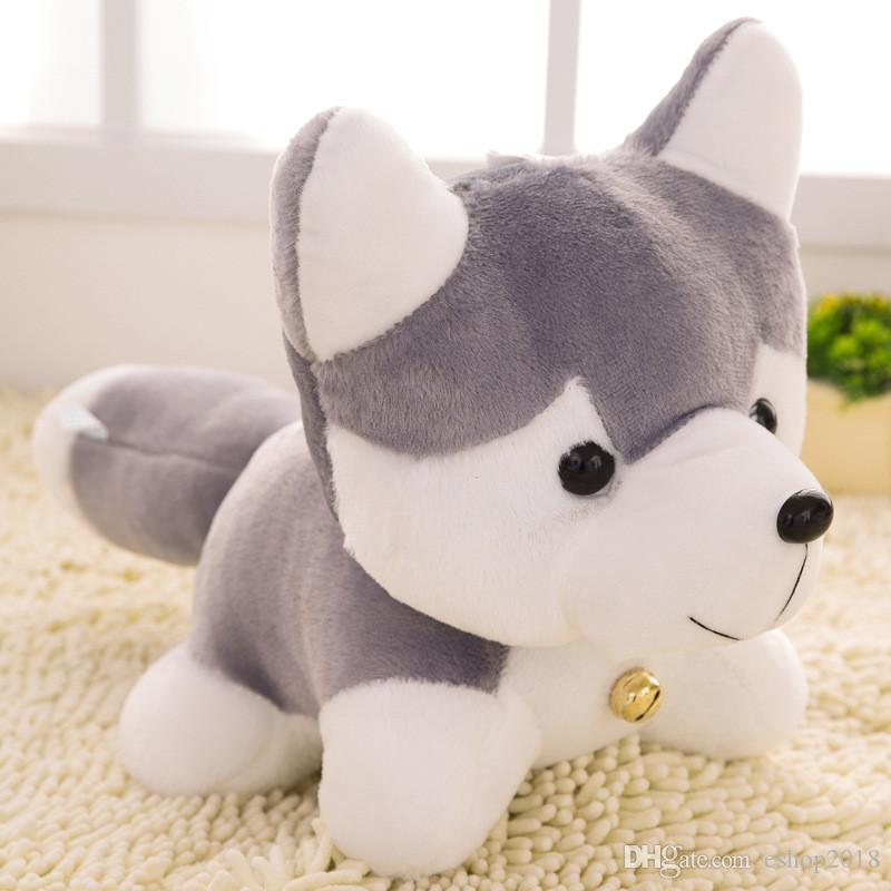 Lovely Simulation Soft Husky Dog Plush Toy Gift For Kids Baby Toy Birthday Creative Present Stuffed Plush Toy High Quality