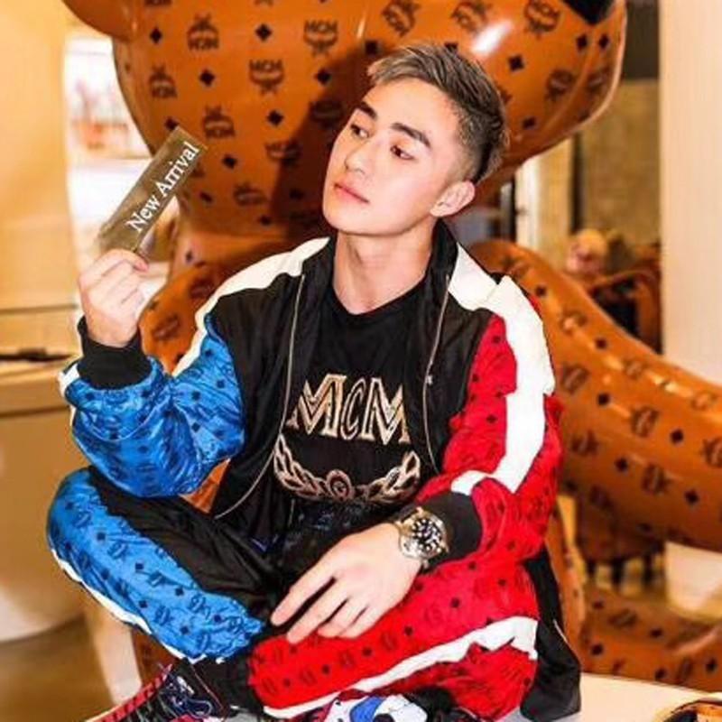 18FW Lüks Dikiş Ceket Pantolon Moda Bahar Sonbahar Kazak Seti Rahat Sokak Hip Hop Dış Giyim Pantolon Spor Çift Eşofman HFYMTZ019