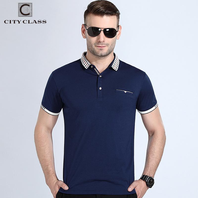 City Class New Herren Polo-Shirt Doppelte Farbe Pique Fabirc Kurzarm Atmungsaktiv Business Fashion Casual Männlich Polo-Shirt Großhandel