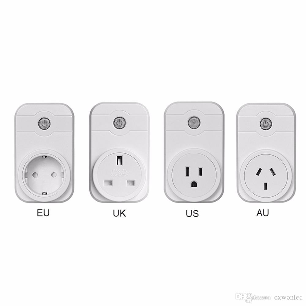 Smart Socket Plug WiFi Wireless Remote Socket Adaptor Remote Control Socket Outlet Timing Switch for Smart Home Automation with one phone