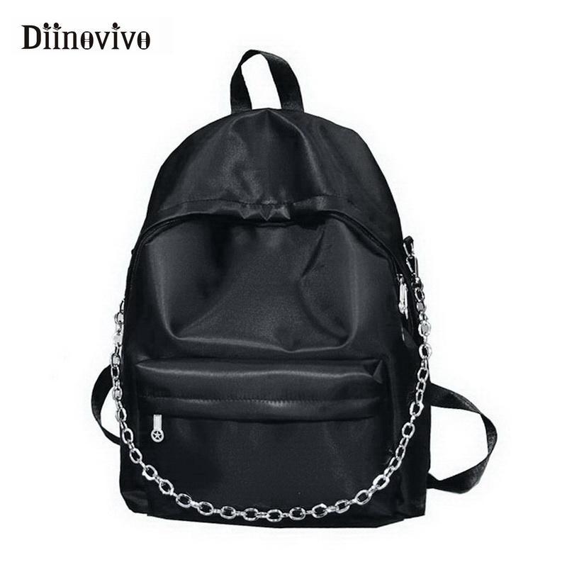 Zaino modo delle donne DIINOVIVO catena sacchetto di scuola femminile di Oxford Big coreana Backpacfor ragazza teenager Sac A WHDV0663 principale