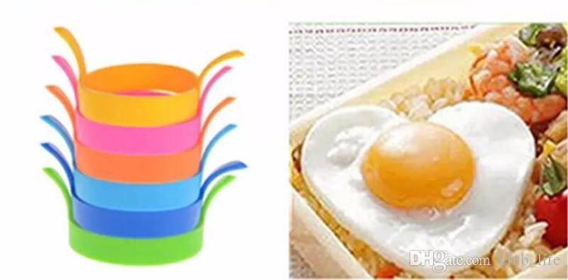 Free shipping 1000pcs/lot Kitchen Silicone Fried Fry Frier Oven Poacher Egg Poach Pancake Ring Mould Tool