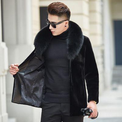Mantel Kragen Kaschmir Pelz M Warm Von Männer Pelz Kurzschluss Jacken Warm Großhandel Größe Winter Schwarz 2018 GC571 Mode Qualitäts 3XL TINTEEN hQdtsxrC