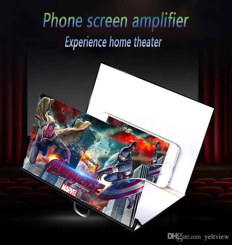 Parmak yüzük ile cep telefonu ekran büyüteç 3d hd video ekran amplifikatör kat tutucu gözler koruma iphone samsung için yeni varış
