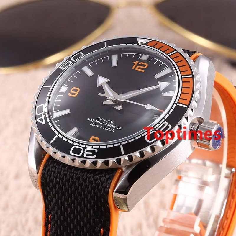 bb7493d4c Luxury PLANET Master OCEAN 600M Nylon Fabric Strap Foldover Clasp 44 MM  Vintage Quartz Chronograph Speed Watches Wristwatch Men Watch