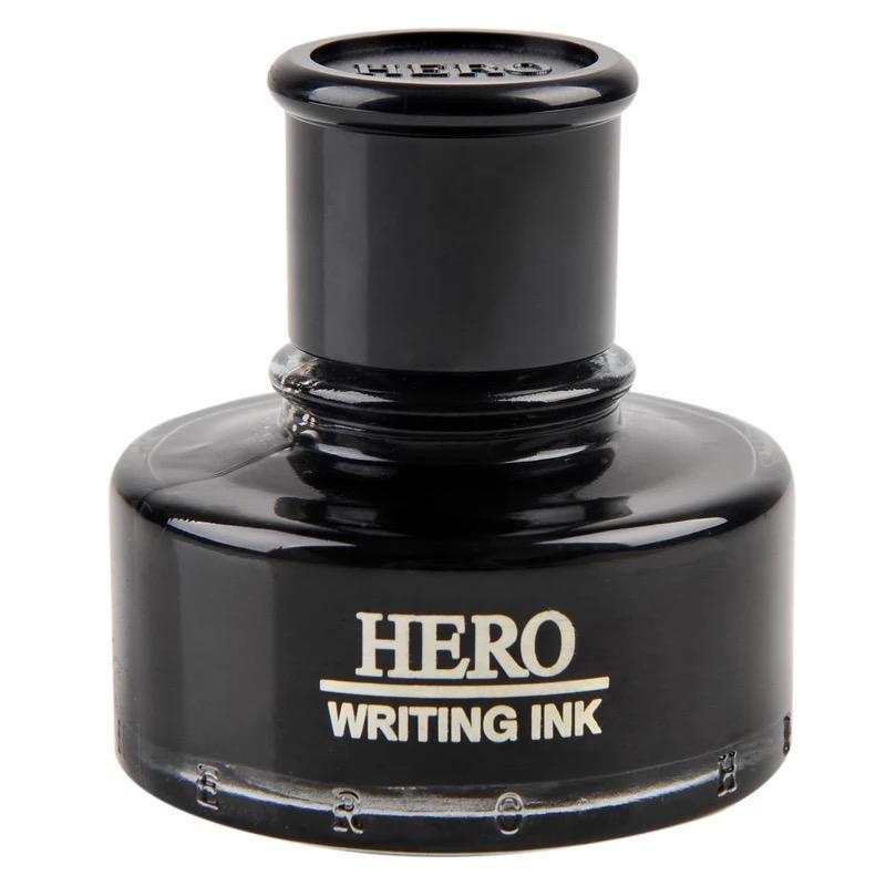 Caneta tinteiro preto frasco de tinta De Tinta 50 ml HERO-440 para canetas de escrita Frete Grátis