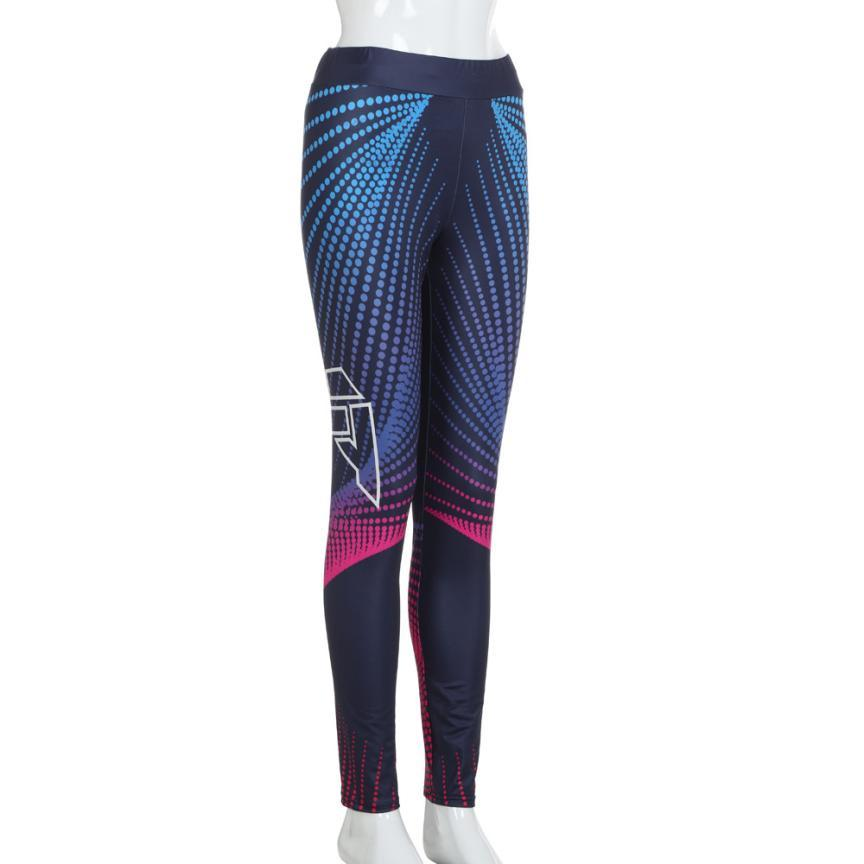 snowshine4 # 4003 2018 Womens 3D Print Skinny Workout Leggings Fitness Cropped Pants