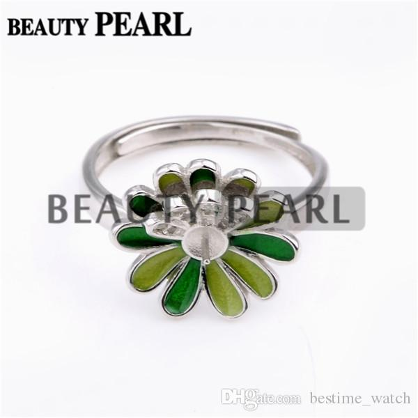 Bulk of 3 Pieces Ring Findings Mount 925 Sterling Silver Flower Daisy Design DIY Jewellery Making