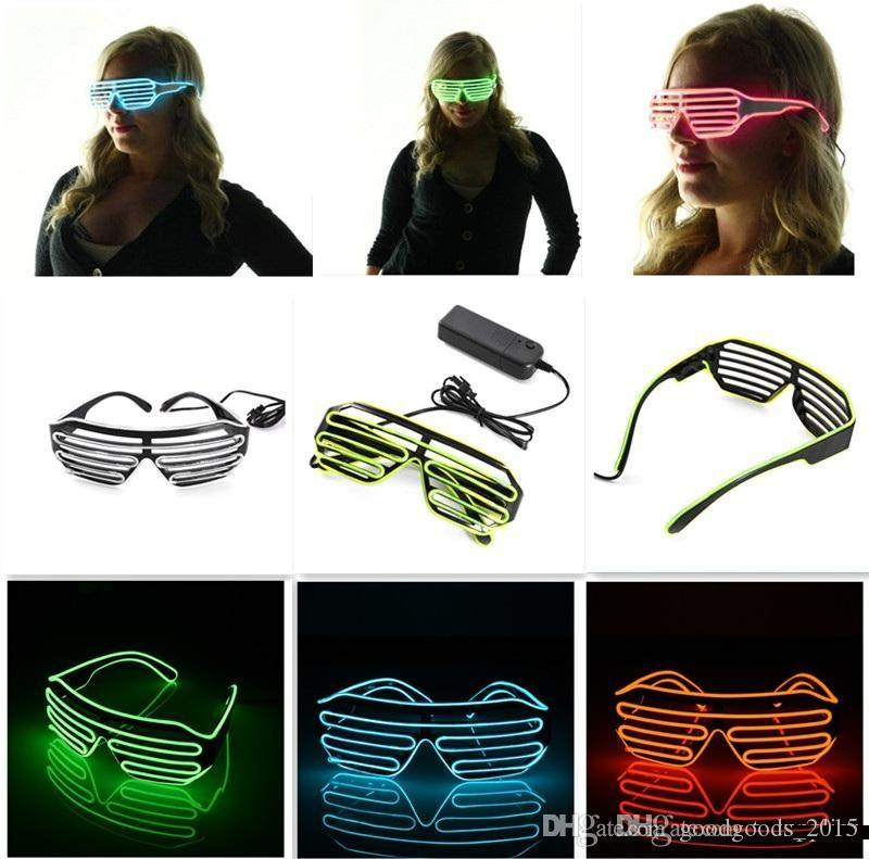 10 Colors Flashing EL Wire Led Glasses Luminous Party Decorative Lighting Classic Gift Bright Light Festival Gift c047