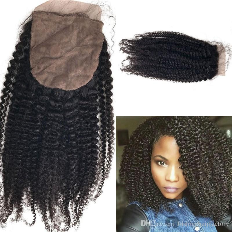 Fast Delivery Kinky Curly Silk Base Closure Cheap Malaysian Human Hair Top Closure with 3pcs Kinky Curky Bundles For Sale FDSHINE