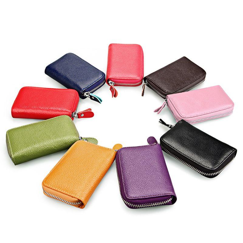 Portefeuille en cuir avec blocage RFID pour femmes, Meilleur cadeau pour femme en cuir véritable Excellent