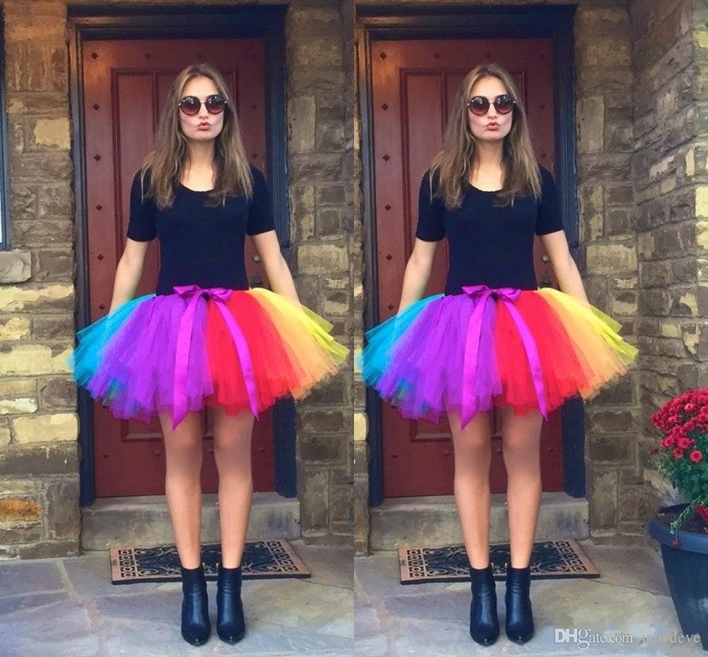 Primavera verão colorido arco-íris anágua para vestidos nupciais vestidos acessórios de casamento underskirt saia de tule curta pronto para usar o tamanho livre