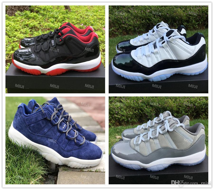 Top Low 11 Sneaker Fresco Cinza Com Fibra De Carbono Real Homens Basquete Blue Moon Criada Derek Jeter RE2PECT Páscoa Shoes 7.5-13.5