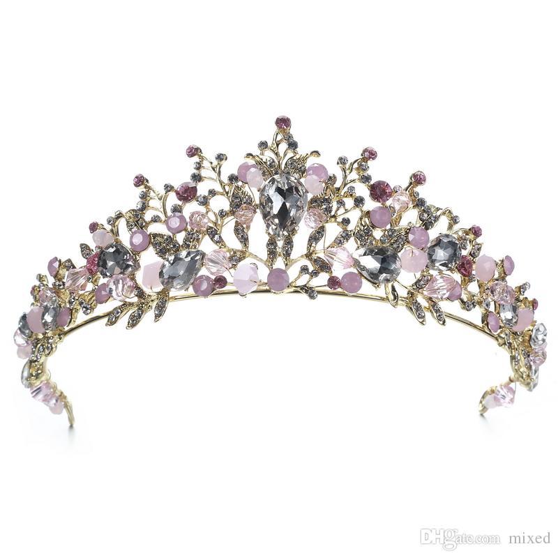 Свадебная Корона Цветок Невесты Украшения Для Волос Кристалл Тиара Принцесса Корона Свадебные Аксессуары Для Волос Украшения для волос ручной работы