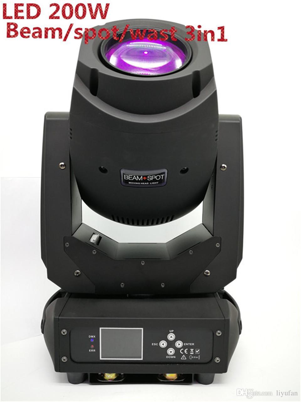 LED 200 W 230 W Haze DE LUZ de Lavado 3w1 Gobos Cabezas Mojule Super Brillante Para Concitto DJ Pokaż Luz Del Disco