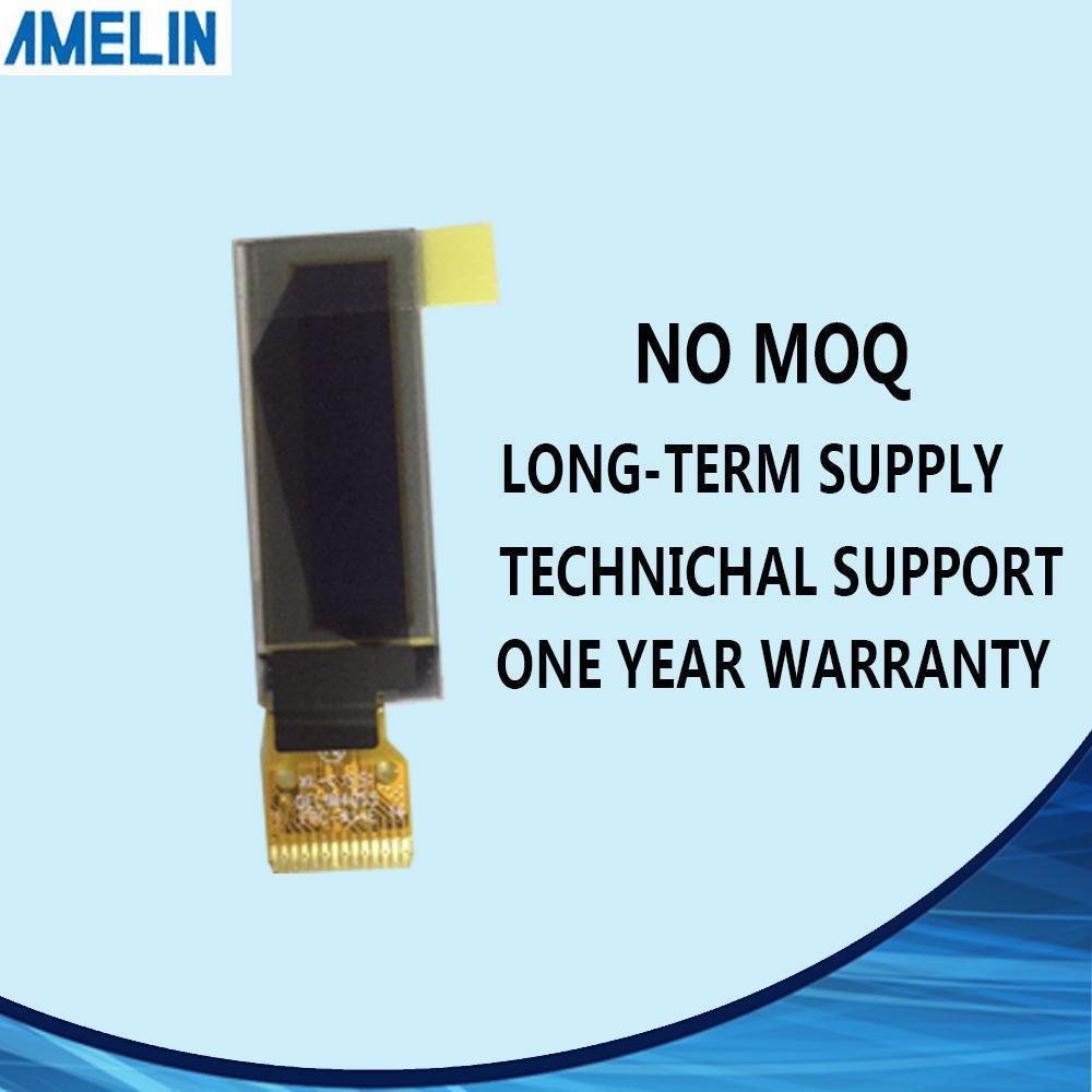 Spedizione gratuita 0.91 pollici 128 * 32 piccolo modulo display LCD OLED con interfaccia MCU schermo amoled e IC SSD1306