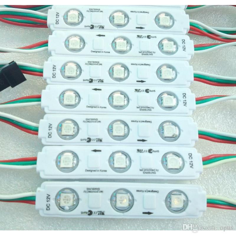 500pcs / серия 3LEDs WS 2811 IC Супер яркий полноцветный RGB 5050 Светодиодный модуль SMD свет лампы водонепроницаемый DC12V