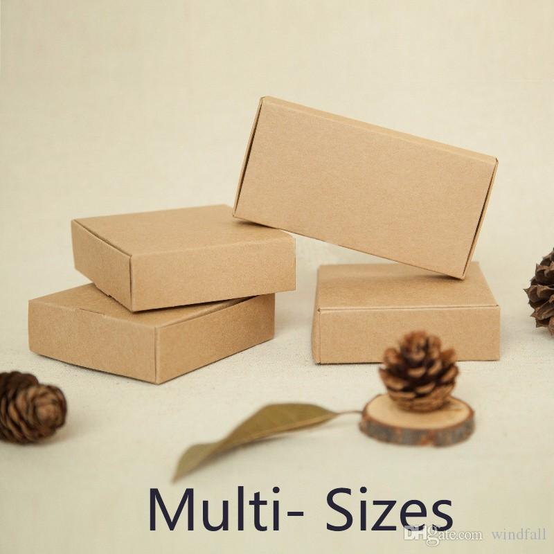 Caja de papel Kraft para tarjeta de invitación de boda Caja de cáscara del teléfono de regalo Caja de CD Empaquetado Marrón Envío gratuito
