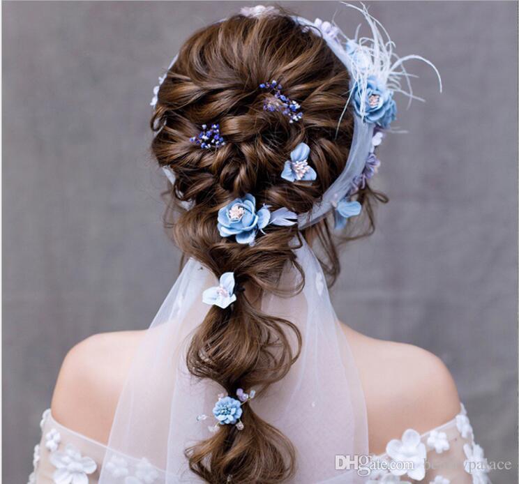 Новая мода горячая свадьба для новобрачных девушка глава цветок Корона жемчуг Гавайи цветок глава венок волос формальные потрясающие новые аксессуары