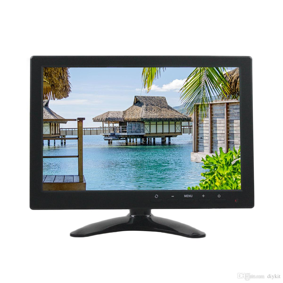 DIYKIT 10.1 inch TFT LCD HD Car Monitor Rear View Monitor Build in Speaker with BNC / AV / VGA / HDMI Input