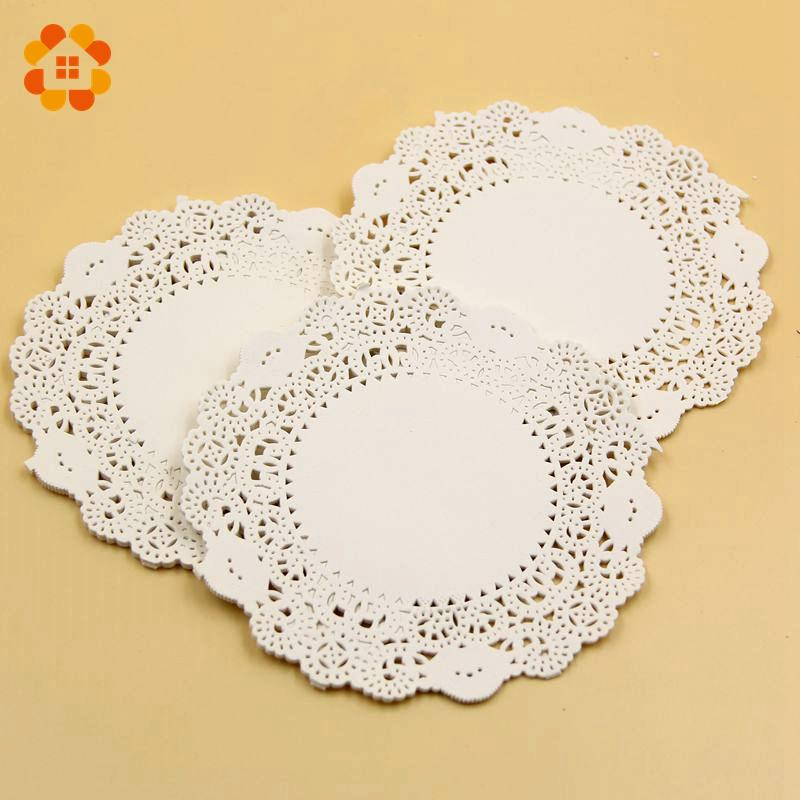 160PCS/Lot 4.5 Inch Eco-Friendly Grease-Proof White Paper Doilies For Home Wedding Christmas Party Table Decoration Cake Holder