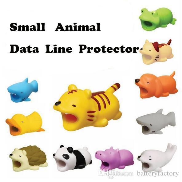케이블 바이트 뜨거운 36styles 동물 물린 케이블 보호자 액세서리 장난감 케이블 비트 개그 돼지 팬더 Axolotl 소매 상자가있는 아이폰 충전기 코드 용