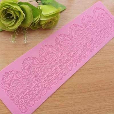 Decoração de rebordos renda Tapete de açúcar para decoração de Bolos De Casamento bolor de Silicone bolor de Natal bolor de silicone H818