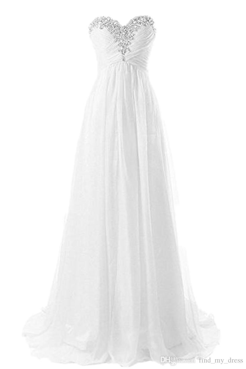 Новые драпированные летние пляжные свадебные платья Crystal Bling Bling шифоновые свадебные платья на заказ мода романтические плиссированные реальные фото