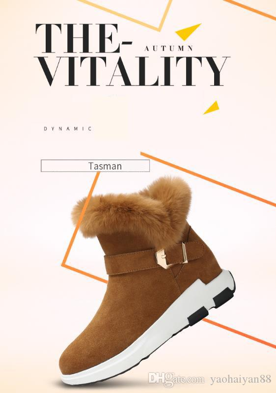Camel brand name brand velvet snow boots genuine leather boots rabbit hair women shoes short boots thickened cotton winter preferred preferr